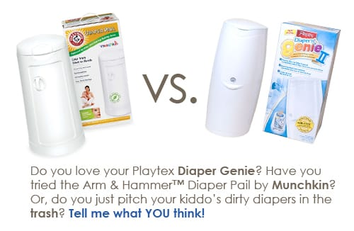 Diaper Genie vs. Arm & Hammer Diaper Pail
