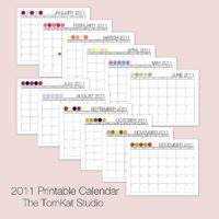 Free Creative 2011 Printable Calendar