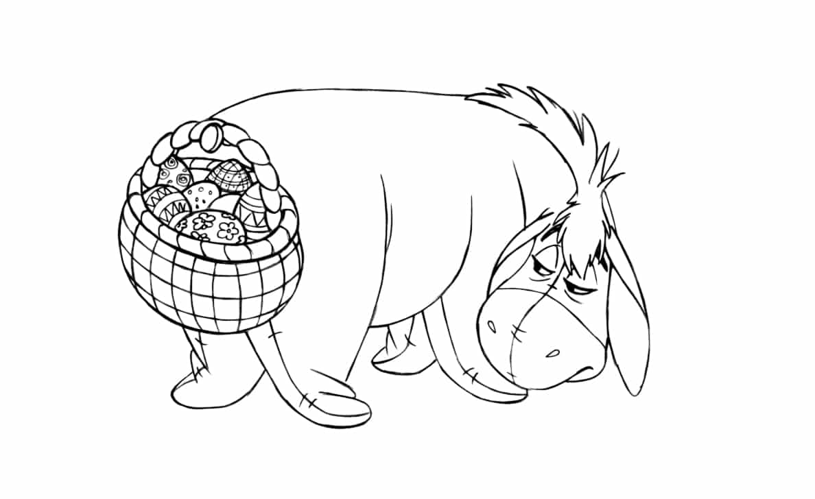 the pooh easter coloring pages - photo#31