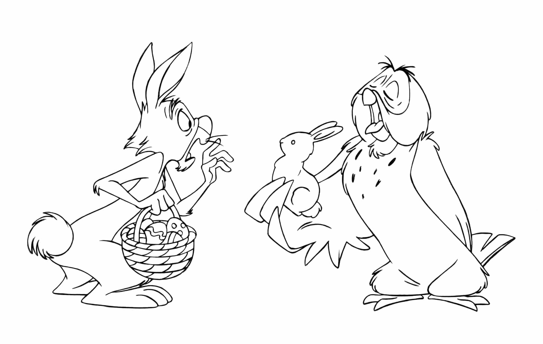 easter tigger coloring pages - photo#10