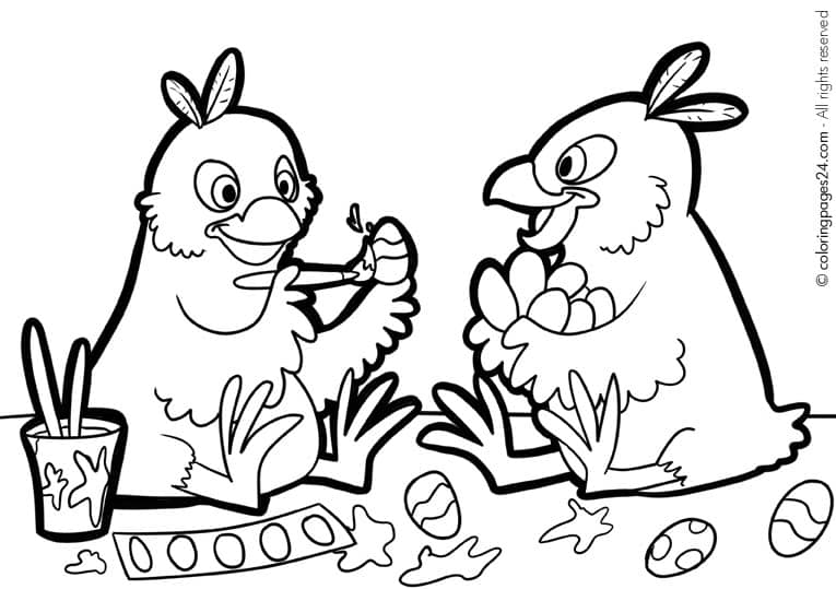 Fun printable easter coloring pages for Spring themed coloring pages
