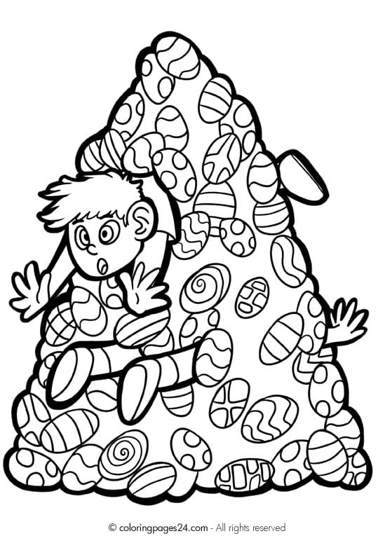 Fun printable Easter coloring pages