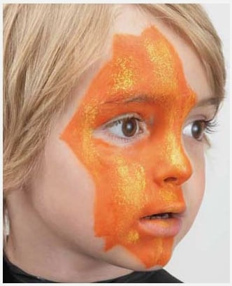 Jack O'lantern Halloween face painting tutorial