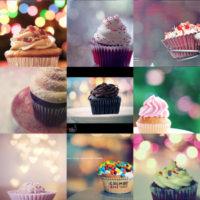 cupcakes and bokeh