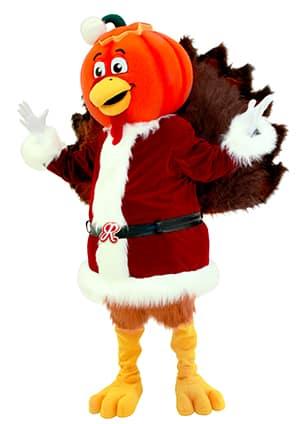 Pumpkin-Headed Turkey Claus, the King of OctoNovemCember™
