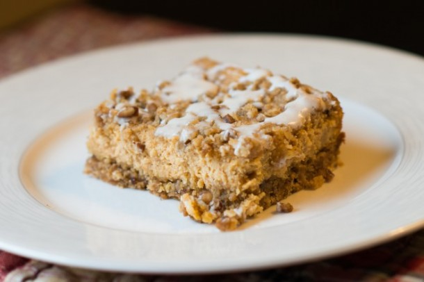 Pumpkin Cheesecake Streusel Bars