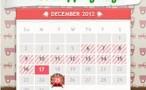 12 Days Free Shipping Calendar image