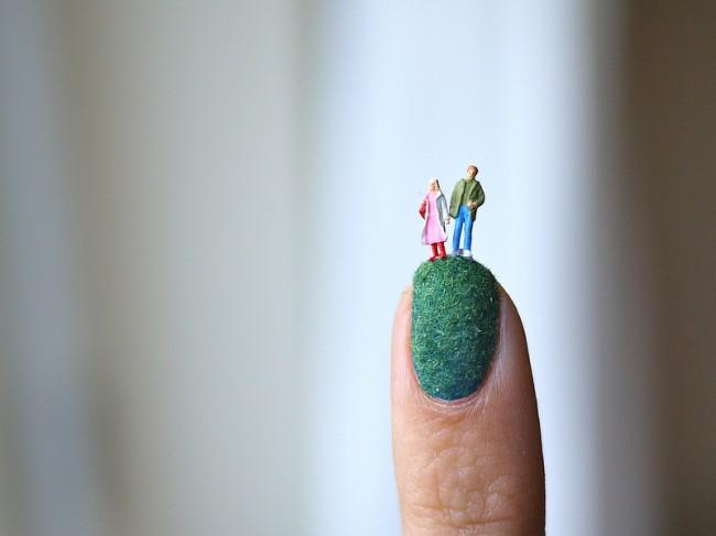 Miniature Landscape Nail Art