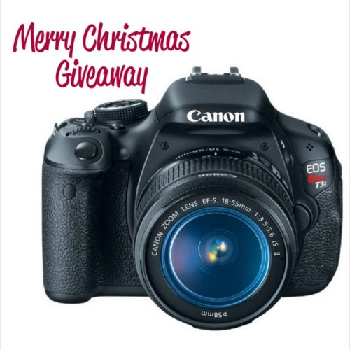 Canon Rebel t3i Christmas Giveaway