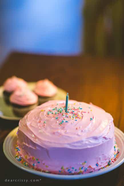 Simple Pink Cake