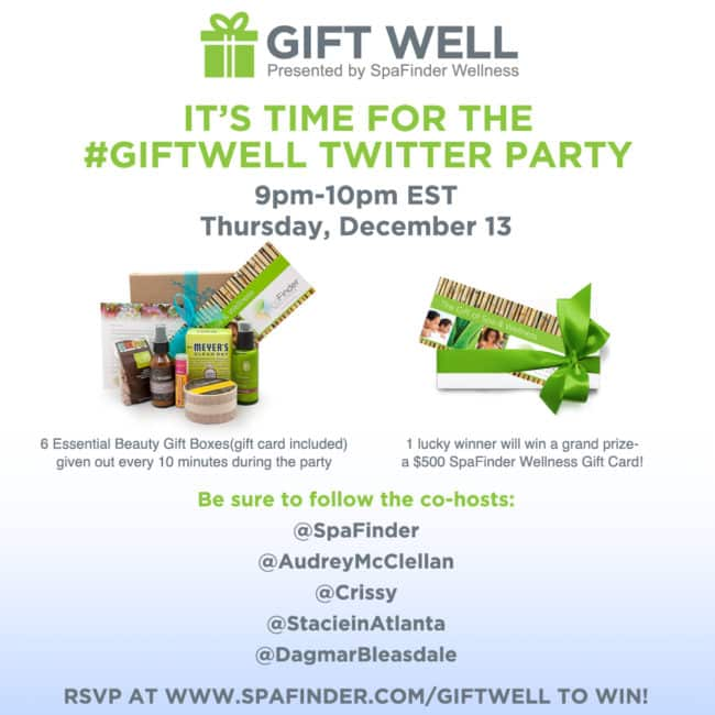 Spa Finder Twitter Party #GiftWell
