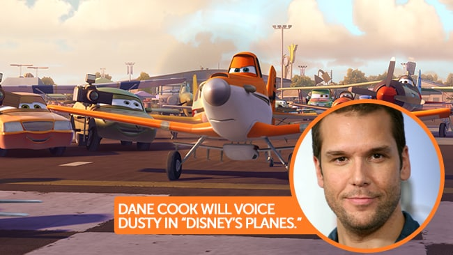 Dane Cook will voice Dusty in Disney's Planes