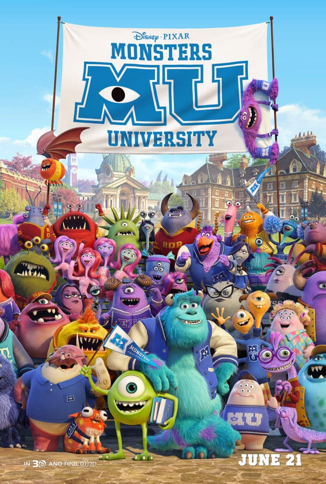 Disney Monsters University Movie Poster