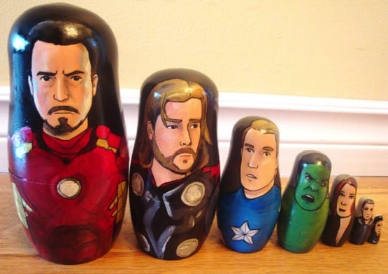 iron man and the avengers nesting dolls set