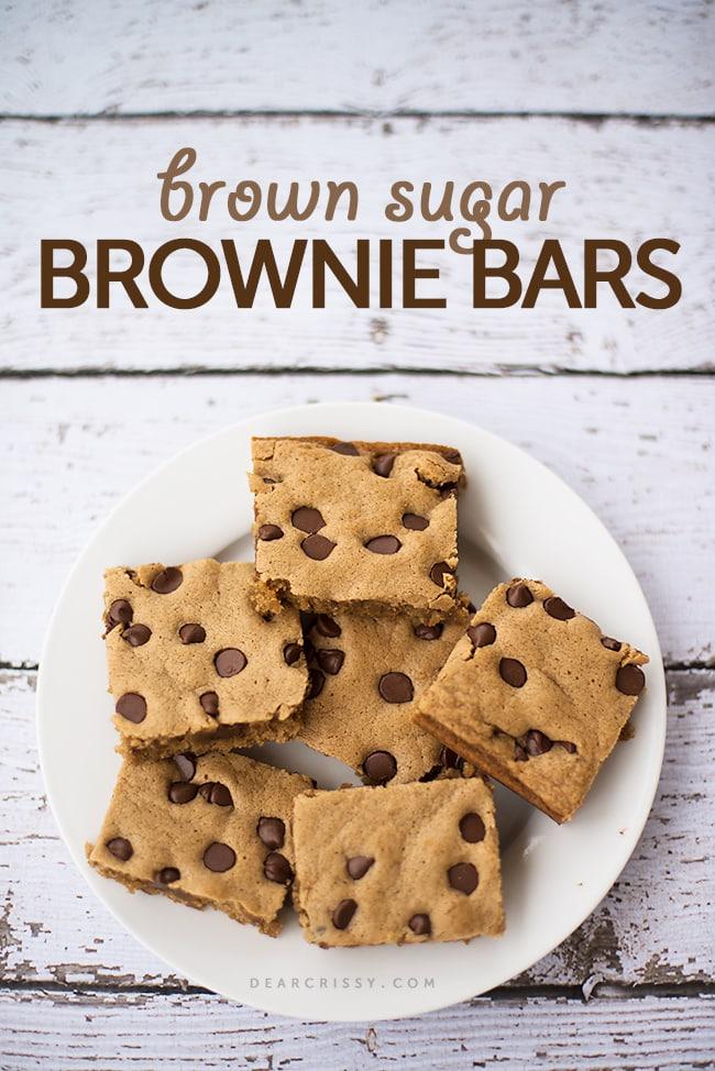 Brown Sugar Brownie Bars