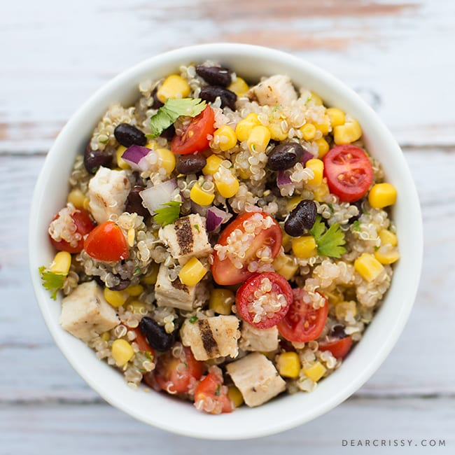 Mexican Quinoa Salad with Grilled Chicken