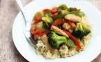 Chicken Stir-Fry Over Quinoa