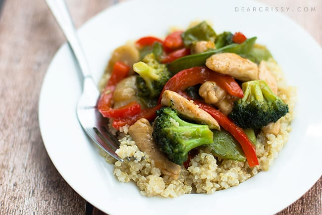 Chicken Stir-Fry Over Quinoa