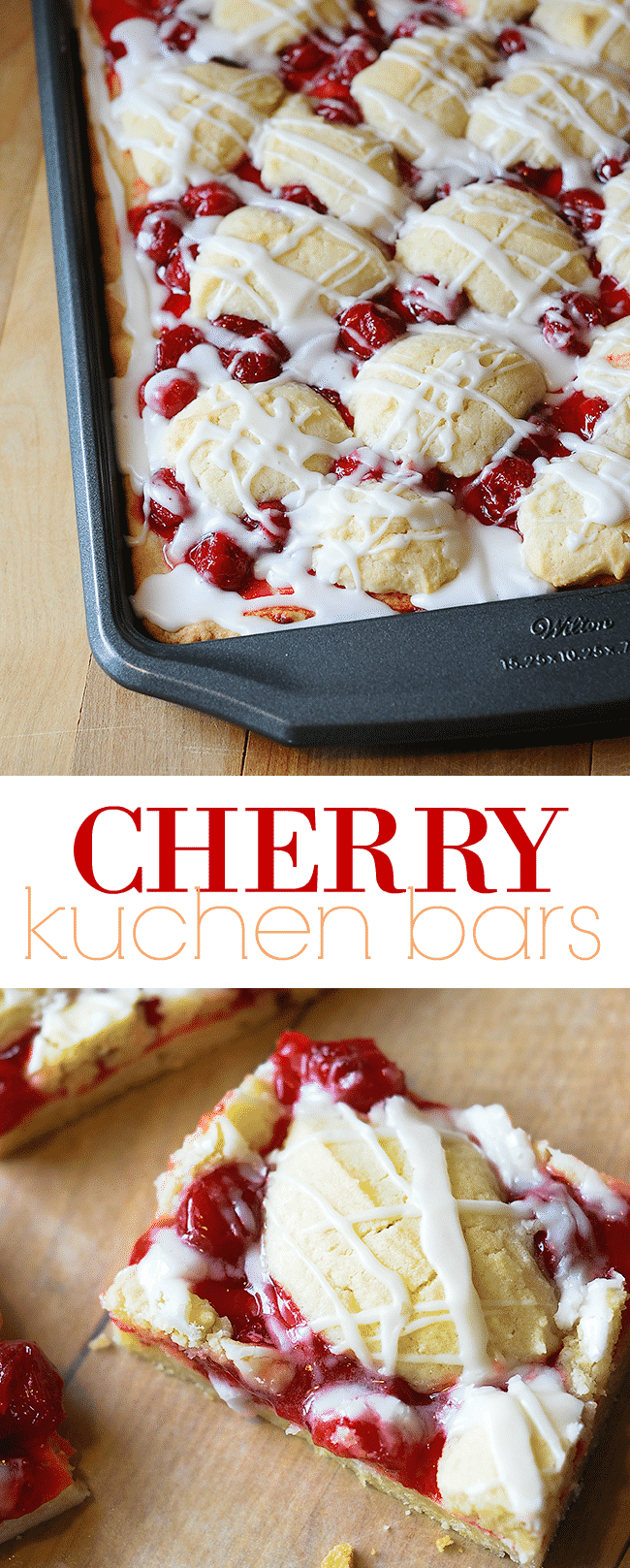 Cherry Pie Bars Recipe | Cherry Kuchen Bars | Easy Dessert Bars | Cherry Pie Filling Dessert | Sheet Pan Dessert