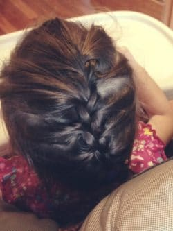 The first French braid