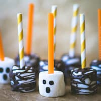 Spooky woods marshmallow pops