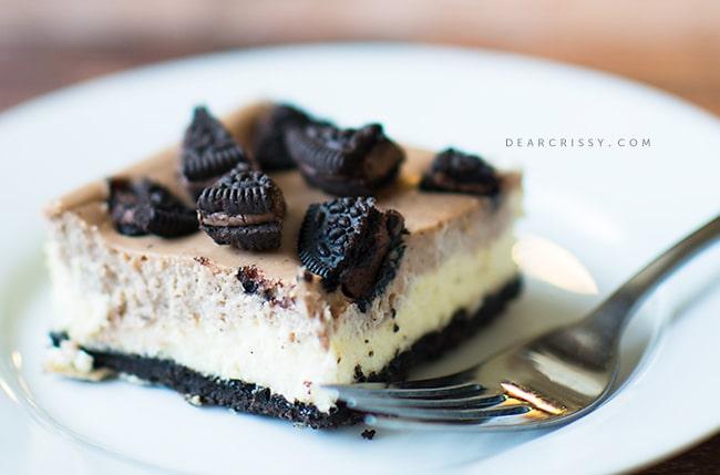 Double-decker OREO cheesecake