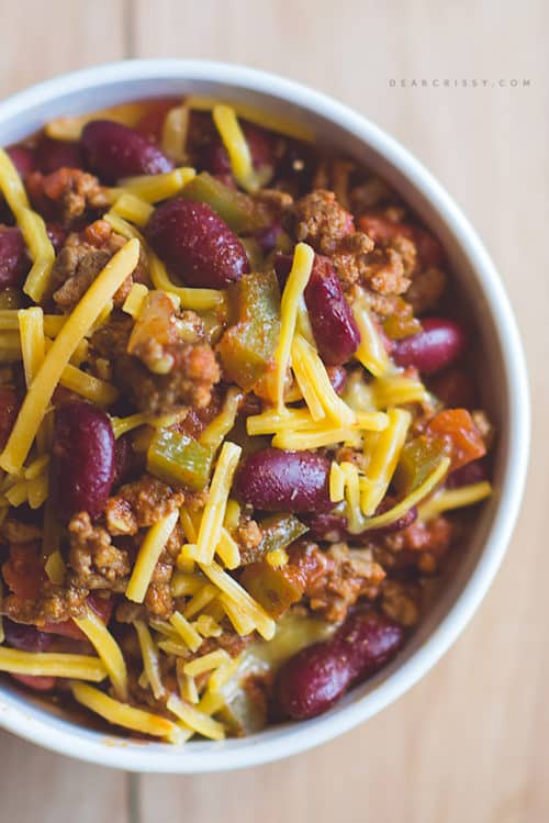 Double-cheese chili