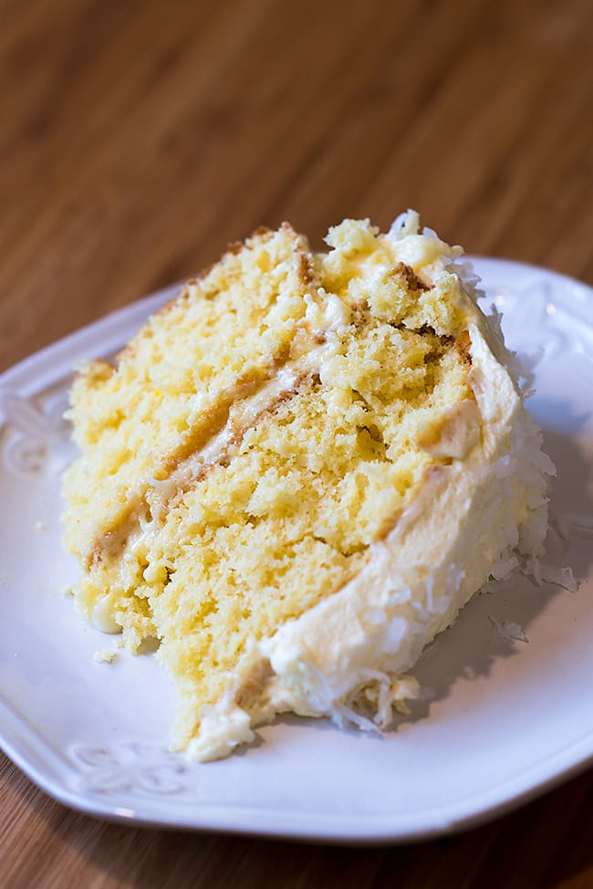 Classic Angel Flake Coconut Cake