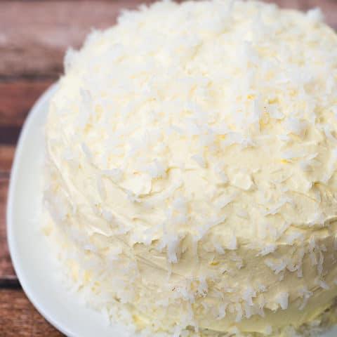 Classic angel flake cake