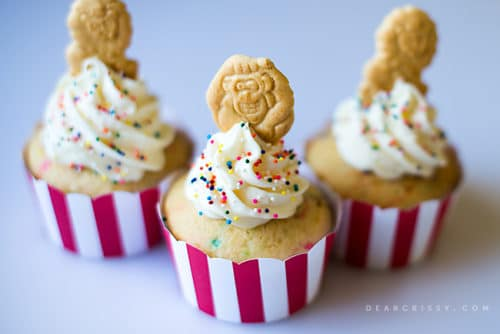 Circus Animal Cookie Cupcakes - A fun and simple cupcake for any circus-themed party!