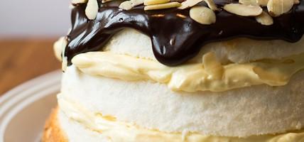 Layered Boston Cream Pie with Almonds