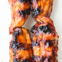BBQ chicken tenderloin kabobs