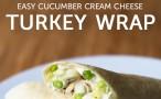 Cucumber cream cheese turkey wraps