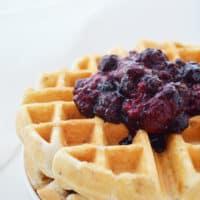Granola berry waffles