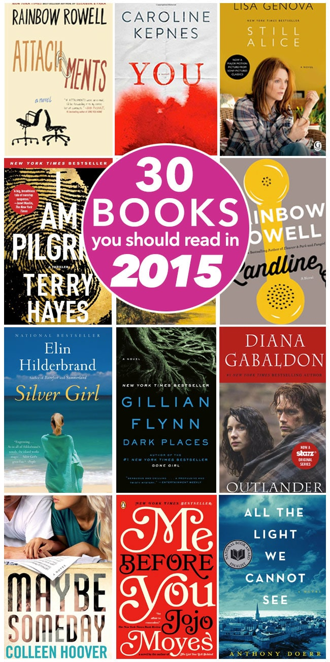 30 Books to Read in 2015 - Don't miss this MUST READ list of incredible books - pin it now and check out the list later!