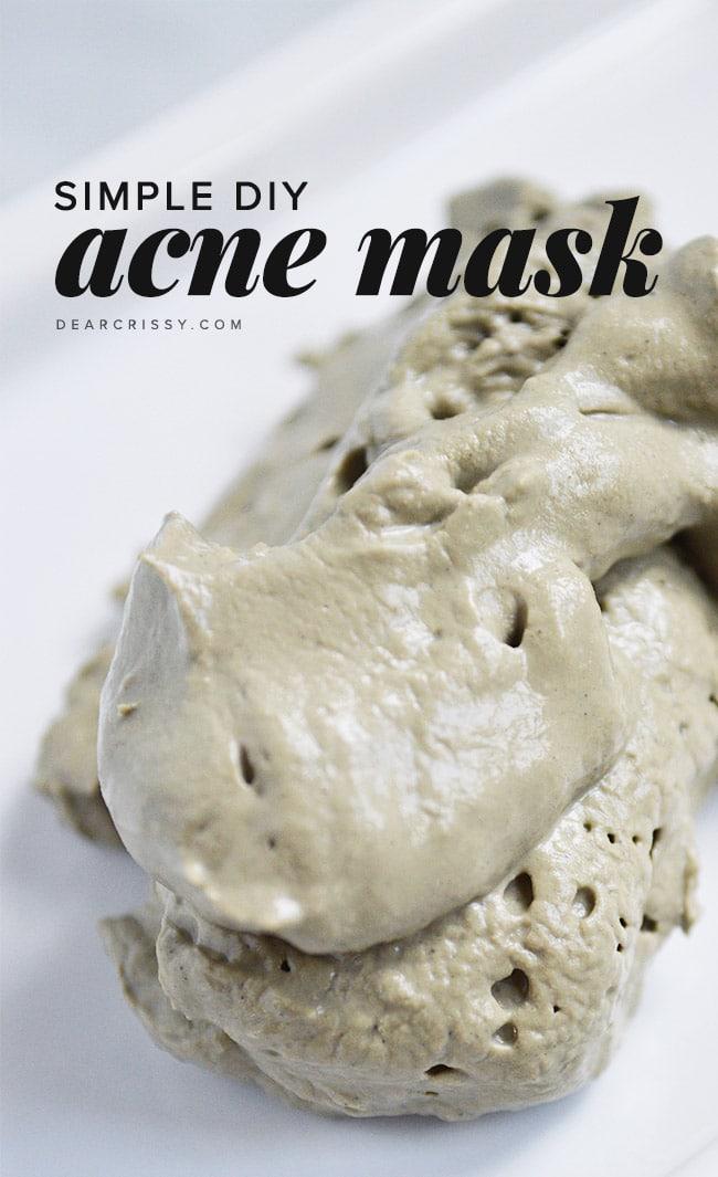 Homemade Acne Mask With Bentonite Clay Apple Cider Vinegar