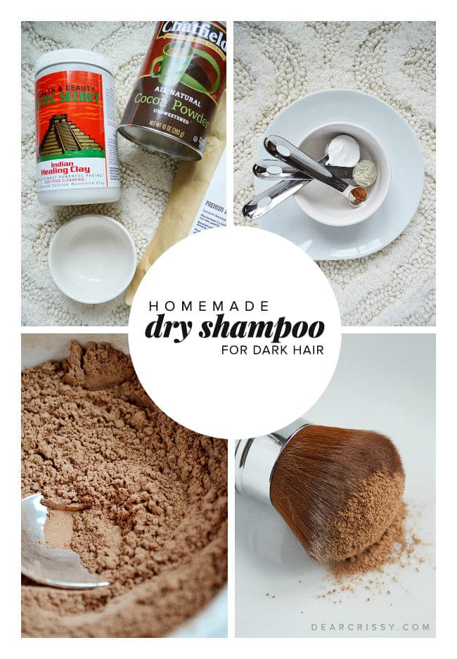 homemade hair styling products shampoo best diy shampoo recipe 7820 | homemade dry shampoo dark hair 650x937