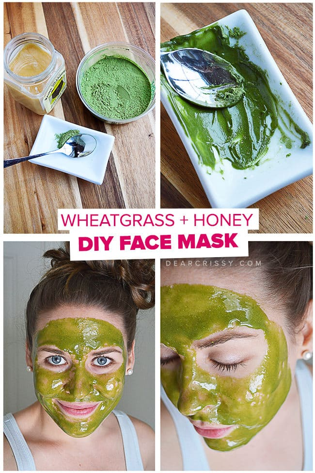DIY Wheatgrass & Honey Face Mask - This easy face mask recipe has just 2 ingredients! This mask will leave your skin feeling soft and looking positively radiant.
