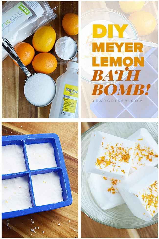 DIY Meyer Lemon Bath Fizzies - I've always wanted to know how to make bath fizzies and this bath bomb recipe is so easy! Give your next bath a burst of heaven-scented glee!