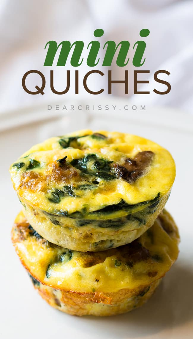Crustless Mini Quiches Recipe - Healthy Mini Quiche