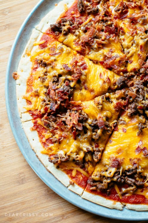Bacon Cheeseburger Pizza - This pizza is a family favorite and so simple to make!