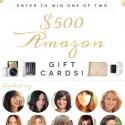 Huge Amazon Giveaway! Two $500 Amazon Gift Cards