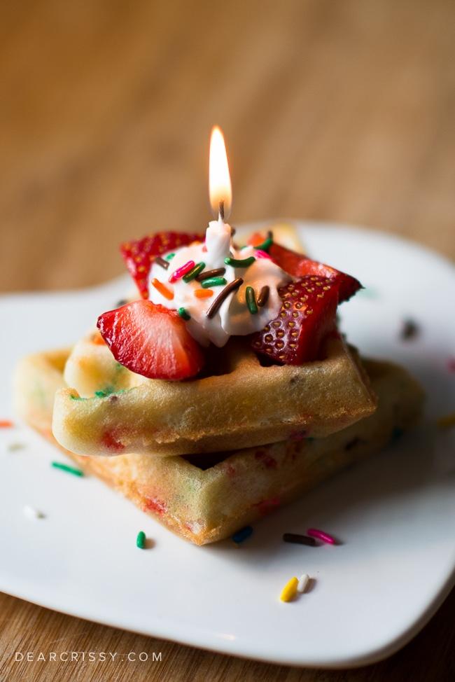 Cake Batter Birthday Waffles Festive Funfetti Cake Mix