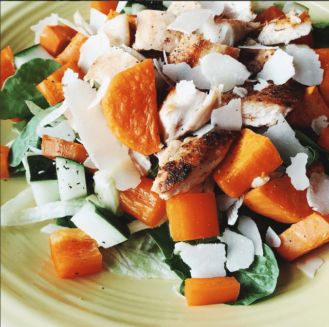 Clean Eating Recipes - Salad with sweet potato