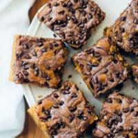 Chocolate-Swirl Pumpkin Bars