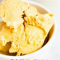 Dairy-Free Pumpkin Ice Cream - This delicious frozen pumpkin treat is so easy to make!