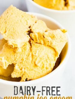 Dairy-Free Pumpkin Ice Cream - This delicious frozen pumpkin treat is so easy to make!