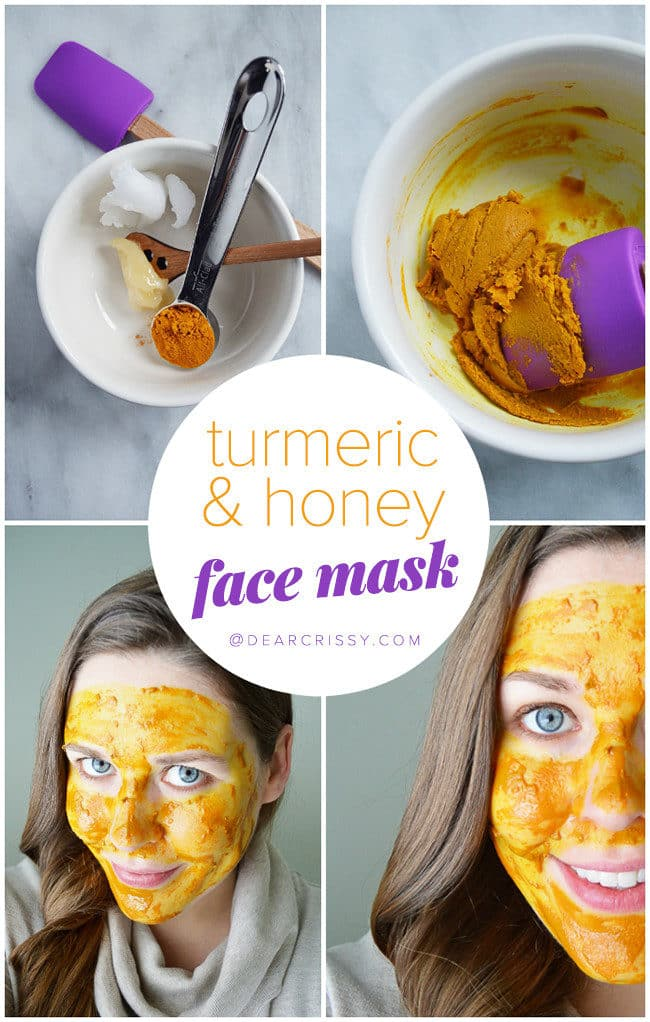 DIY Turmeric & Honey Face Mask - Turmeric is powerful in treating acne, rosacea and even eczema. Make this easy  2-ingredient face mask and start healing your breakouts today!