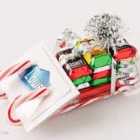 Candy Cane Sleigh Gift Card Holder