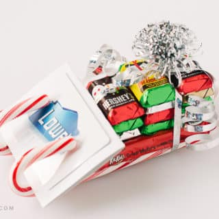 Candy Cane Sleigh Gift Card Holder